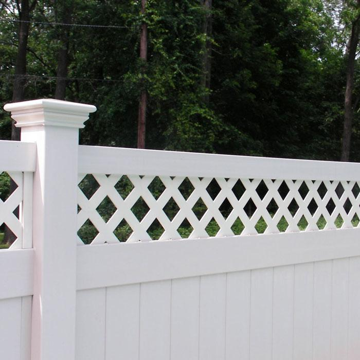 Rainier lattice privacy fence vinyl lattice fence from for Cheap tall privacy fence