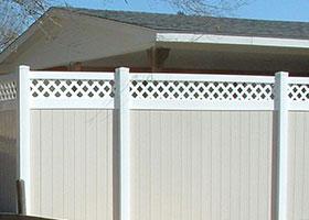 7' tall vinyl fence