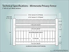 5 Foot Tall Minnesota Privacy Fence
