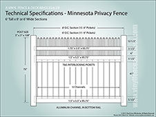 6 Foot Tall Minnesota Privacy Fence