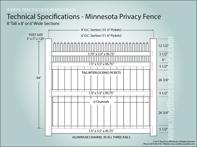 Minnesota Vinyl Privacy Fence Fencing From Vinyl Fence