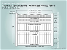 8 Foot Tall Minnesota Privacy Fence