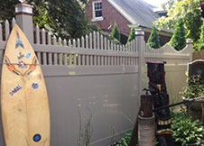 New York Vinyl Privacy Fence TAN