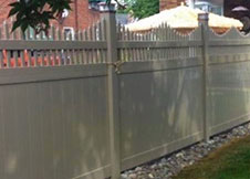 New York Tan Vinyl Fence Panels