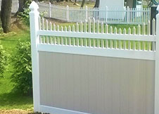 Color Combo New York Vinyl Fence