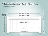 5 foot tall vinyl privacy fence