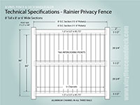 Gray Crossbuck Fence