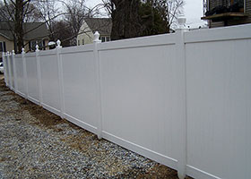 White PVC privacy fence panel