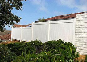 khaki vinyl fence panel