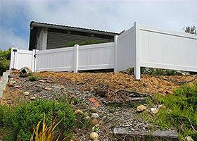 gray vinyl fence