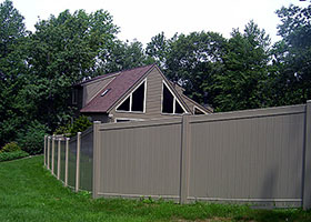 8 Foot tall vinyl fence