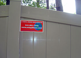tall privacy fence