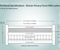 3'tall privacy fence
