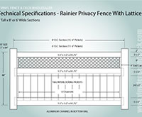 4' tall privacy fence