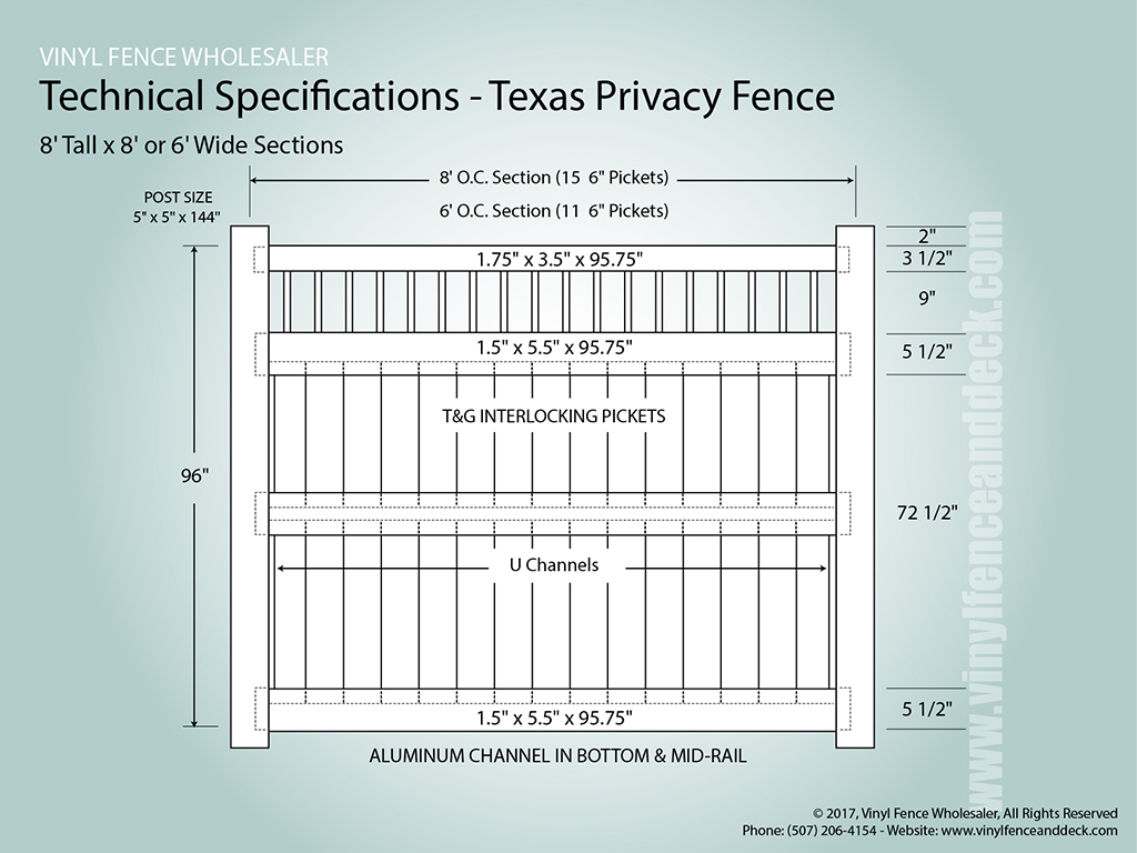 Texas Vinyl Privacy Fence