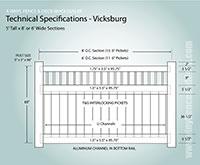 Texas Vinyl Privacy Fence