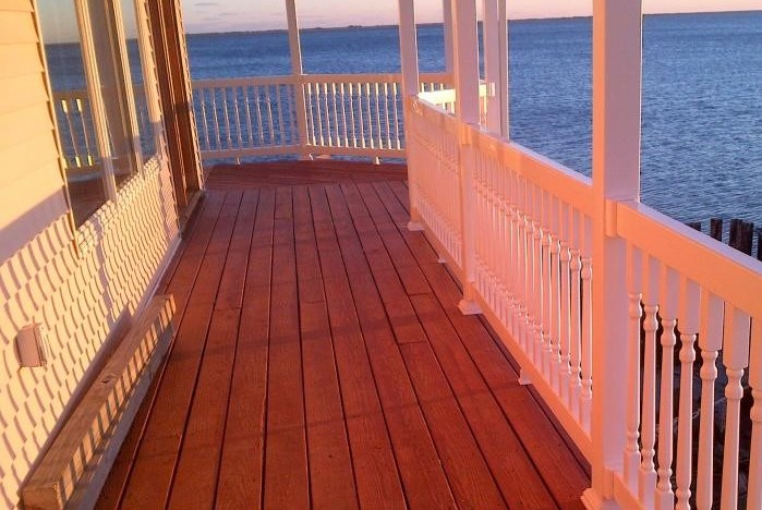 Heavy Duty Boston Vinyl Railing - Straight Railing and Vinyl Stair Rail