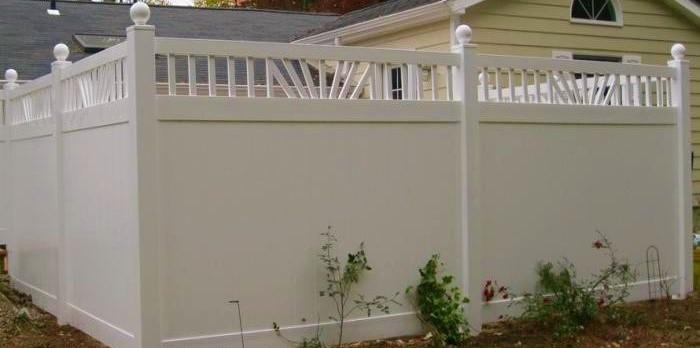 California vinyl fence + California vinyl privacy fence panels