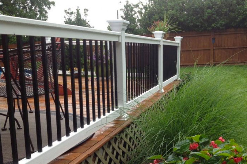 Vinyl railings deck railing stair