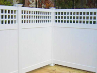 Florida Vinyl Fence With Lattice