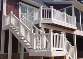 Sefton Vinyl Railing and Vinyl Stair Railing