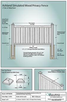 ashland 4x8 privacy fence