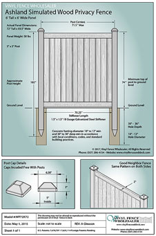 6' Tall x 6' Wide Ashland Privacy Fence