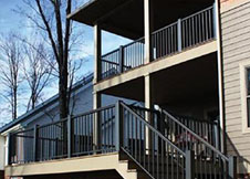 Minnesota black aluminum deck railing
