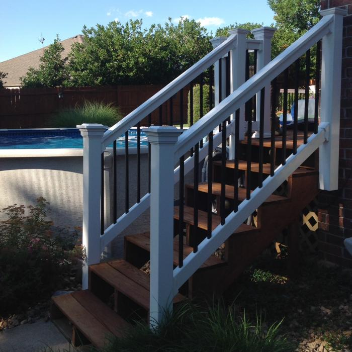 Commercial Grade Houston Vinyl Railing
