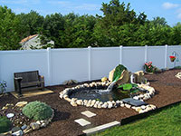 white privacy fence panels