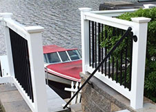 Commercial Grade Beaumont Aluminum Railing + Beaumount Stair Railing