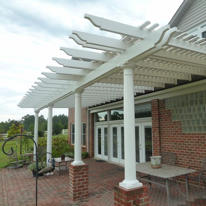 round tapered posts patio cover