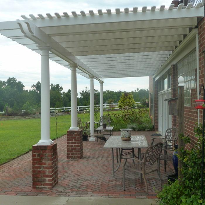 double beam patio cover with tapered posts