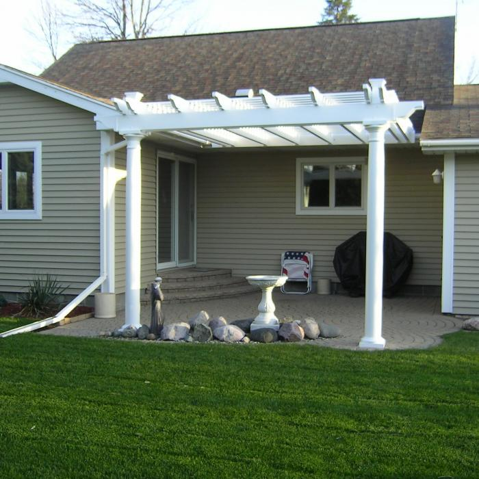 round posts vinyl patio cover