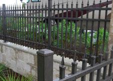 Black Aluminum Fence image 8