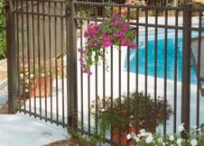 Black Aluminum Pool Fence image 9