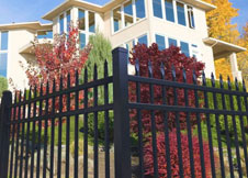 Black Aluminum Fence 8 foot tall