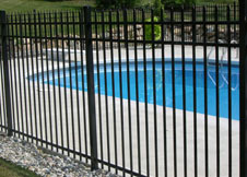 Black Aluminum Pool Fence image