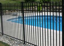 Black Aluminum Pool Fence image