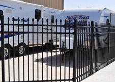 8 foot Tall Black Aluminum Fence