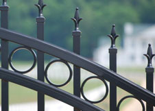Close up of Decorative Aluminum Fence Picket Topppers