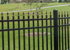 4' Tall Aluminum Fence with decorative Picket Toppers