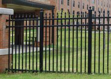 6' Tall Black Aluminum Fence