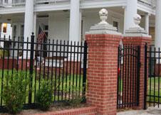 4' Tall Black Aluminum Fence