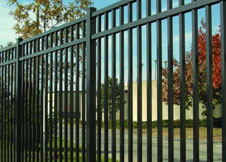 8' Tall Black Aluminum Fence