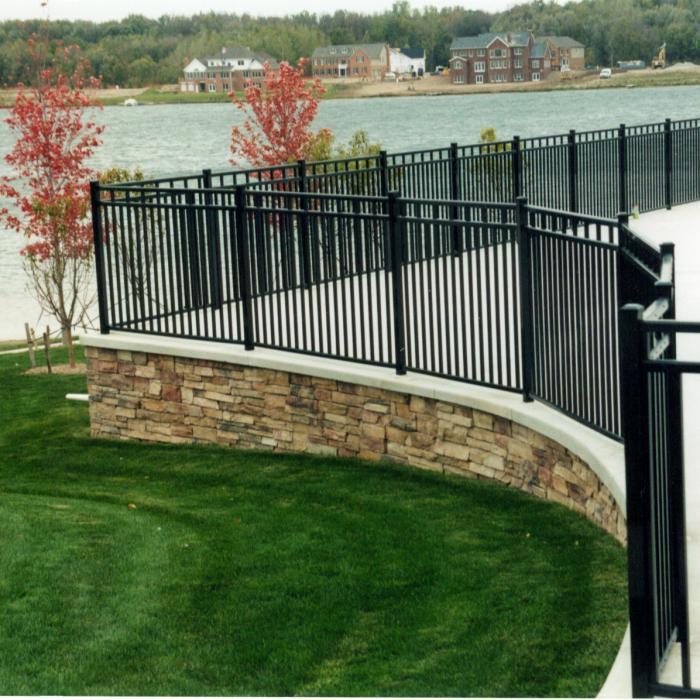 4 Tall Heavy Duty Black Aluminum Fence