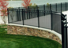 4' Tall Heavy Duty Black Aluminum Fence