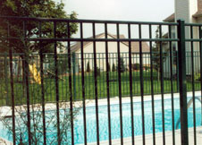 6' Tall Black Aluminum Pool Fence