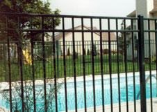 6' Tall Black Aluminum Pool Fence