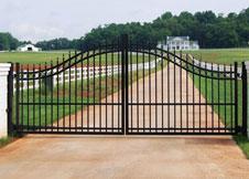 6' Tall Double Gate Black Aluminum